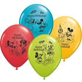 "Mickey Mouse 12"" Latex Balloons (6 Pack)"