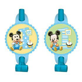 Mickey Mouse 1st Birthday Blowouts (8 Pack)