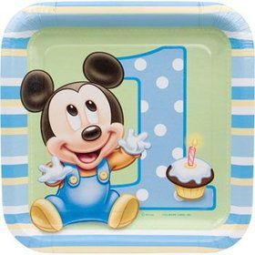 Mickey Mouse 1st Birthday Cake Plate (8-pack)