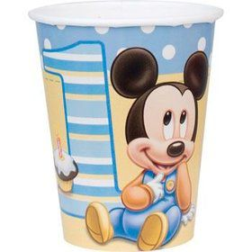 Mickey Mouse 1st Birthday Cups (8-pack)