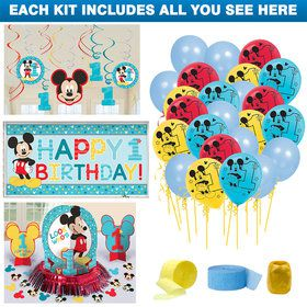 Mickey Mouse 1st Birthday Swirl Hanging Decorations Hanging