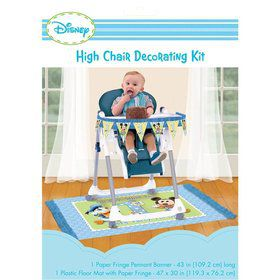 Mickey Mouse 1st Birthday High Chair Decorating Kit (Each)