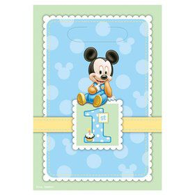 Mickey Mouse 1st Birthday Lootbags (8 Pack)