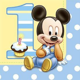 Mickey Mouse 1st Birthday Napkins (16-pack)