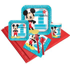 Mickey Mouse 1st Birthday Party Pack (24)