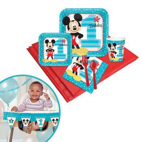 Mickey Mouse 1st Birthday Tableware High Chair Kit