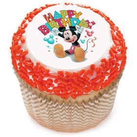 "Mickey Mouse Birthday 2"" Edible Cupcake Topper (12 Images)"