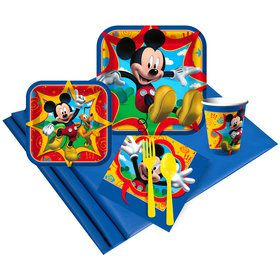 Mickey Mouse Birthday Party Deluxe Tableware Kit Serves 8