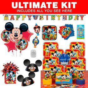 Mickey Mouse Birthday Party Ultimate Tableware Kit Serves 8