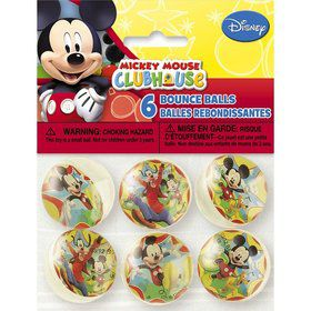Mickey Mouse Bounce Ball Favors (6 Pack)