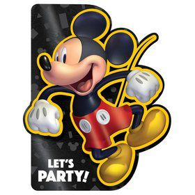 Mickey Mouse Forever Foil Invitations (8)