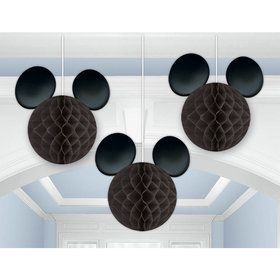 Mickey Mouse Honeycomb Decorations (3 Count)