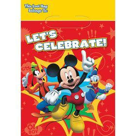 Mickey Mouse Loot Bags (8 Pack)