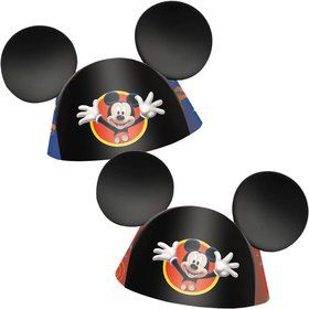 Mickey Mouse Party Hats (8 Pack)