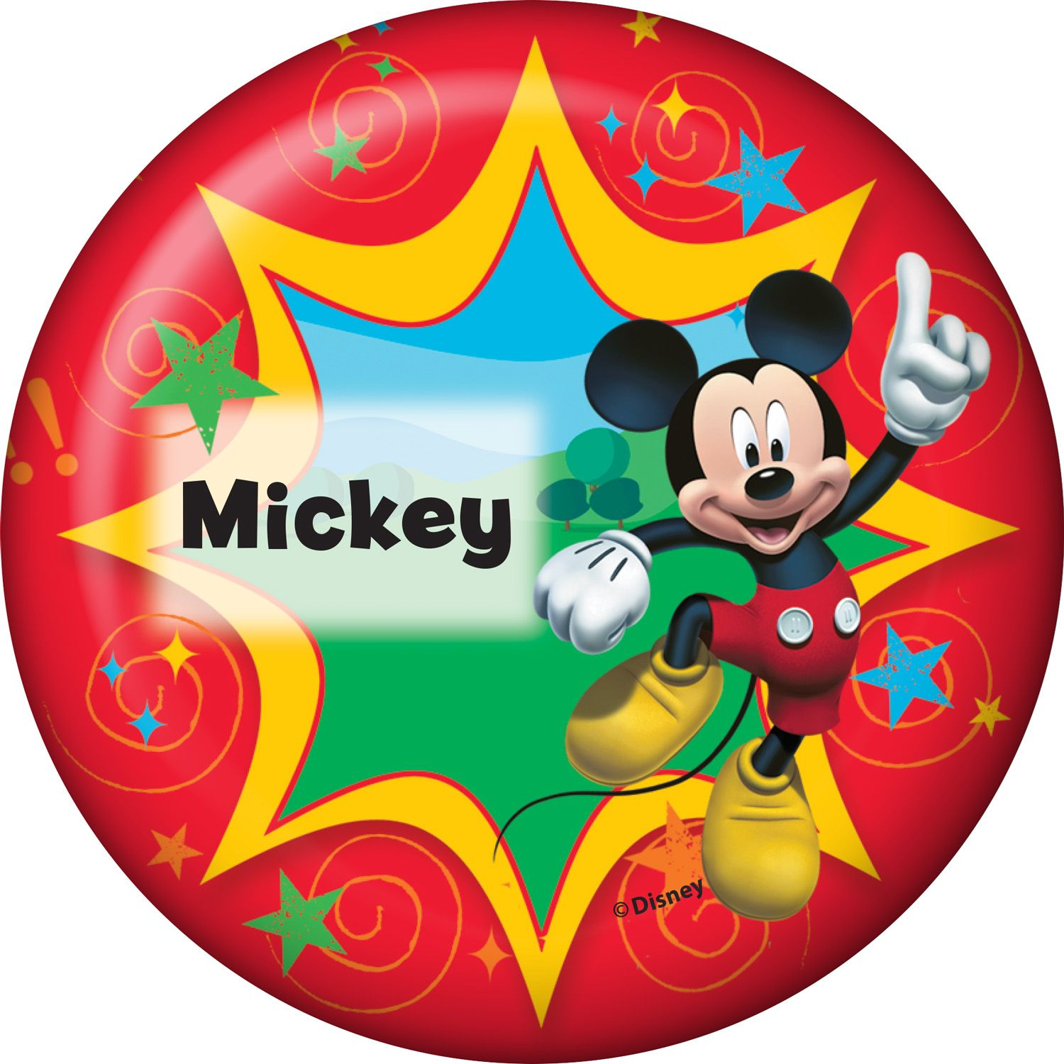 Mickey Mouse Personalized Button (Each) BB1333BT