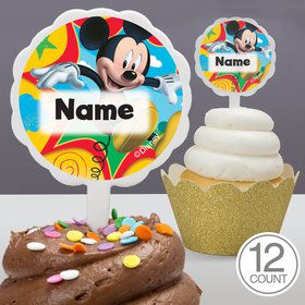 Mickey Mouse Personalized Cupcake Picks (12 Count)