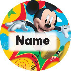 Mickey Mouse Personalized Mini Stickers (Sheet of 24)