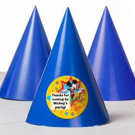Mickey Mouse Personalized Party Hats (8 Count)