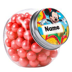 Mickey Mouse Personalized Plain Glass Jars (12 Count)