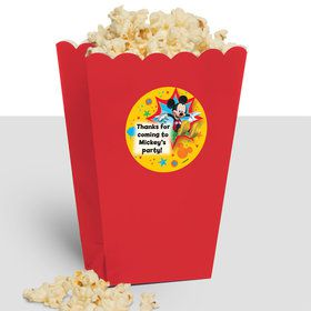 Mickey Mouse Personalized Popcorn Treat Boxes (10 Count)