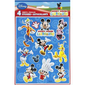 Mickey Mouse Sticker Favors (4 Sheets)