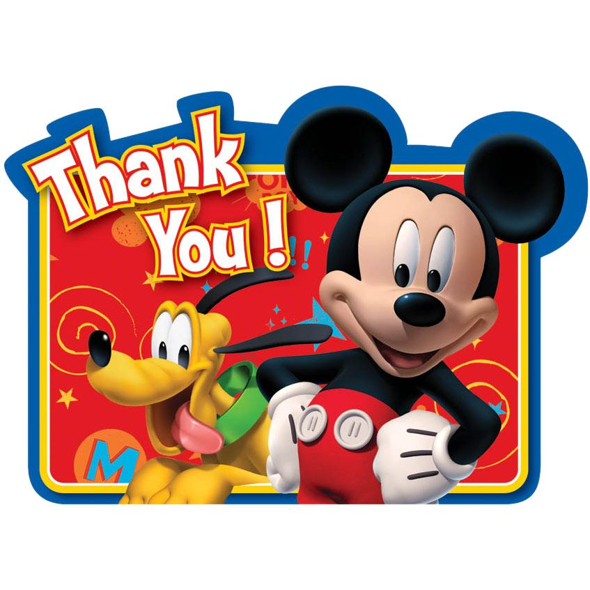 Mickey Mouse Thank You Cards (8 Pack) BB489595
