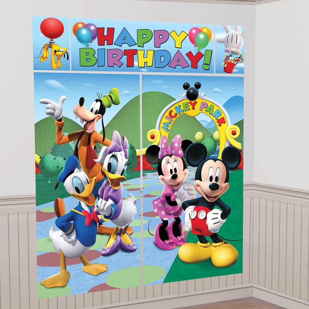Mickey Mouse Wall Decorating Kit (Each) - Party Supplies