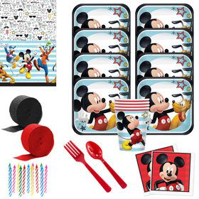 Mickey On The Go Deluxe Tableware Kit (Serves 8)