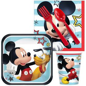 Mickey On The Go Standard Tableware Kit (Serves 8)