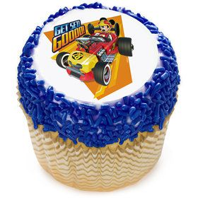 "Mickey Roadster 2"" Edible Cupcake Topper (12 Images)"
