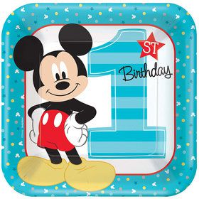 "Mickey's Fun To Be One 9"" Luncheon Plates (8 Count)"