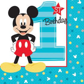 Mickey's Fun To Be One Beverage Napkins (16 Count)