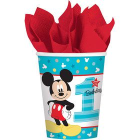 Mickey's Fun To Be One Paper 9oz Cups (8 Count)