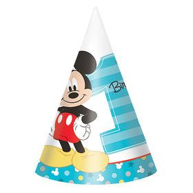 Mickey's Fun To Be One paper Cone Hats (8 Count)