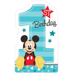 Mickey's Fun To Be One Postcard Invitations (8 Count)