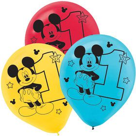 Mickey's Fun To Be One Printed Latex Balloons (15 Count)