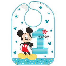 Mickey's Fun To Be One Vinyl Baby Bib (Each)