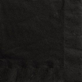 Midnight Black Luncheon Napkins (20 Count)
