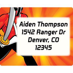 Mighty Heroes Personalized Address Labels (sheet of 15)