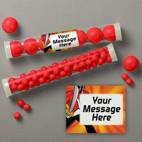 Mighty Heroes Personalized Candy Tubes (12 Count)