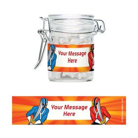 Mighty Heroes Personalized Glass Apothecary Jars (10 Count)