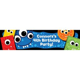 Mighty Monster Personalized Banner (Each)