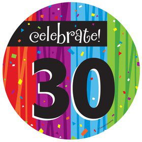Milestone Celebrations 30Th Birthday Cake Plates (8 Pack)