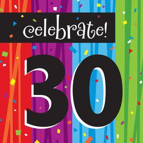 Milestone Celebrations 30Th Birthday Napkins (16 Count)