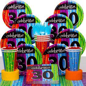 Milestone Celebrations 30Th Birthday Party Deluxe Tableware Kit