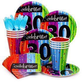 Milestone Celebrations 30Th Birthday Standard Tableware Kit