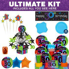 Milestone Celebrations 30TH Birthday Ultimate Tableware Kit