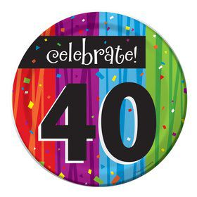 Milestone Celebrations 40Th Birthday Cake Plates (8 Pack)