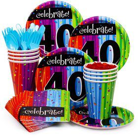 Milestone Celebrations 40Th Birthday Standard Tableware Kit