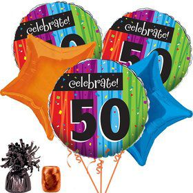 MILESTONE CELEBRATIONS 50TH BALLOON KIT